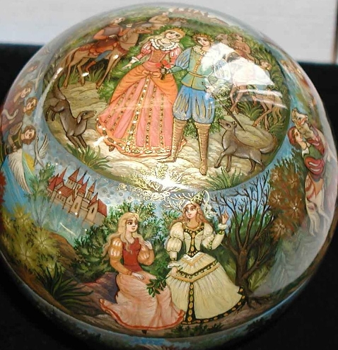 One of a kind russian lacquer box art by kholui kholuy