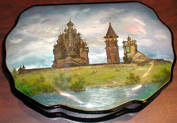 Fedoskino Russian Lacquer Box Fine Art Dubovikov Master Miniature